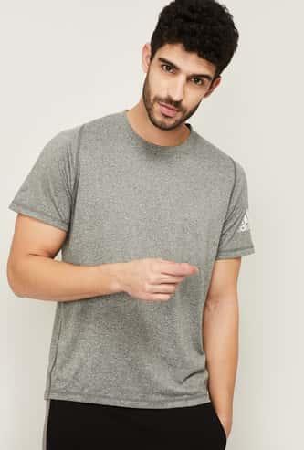 ADIDAS Men Solid Regular Fit Crew Neck T-shirt