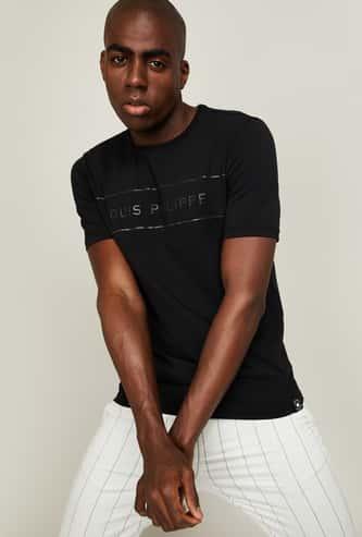 LP SPORT Men Typographic Print Regular Fit T-shirt
