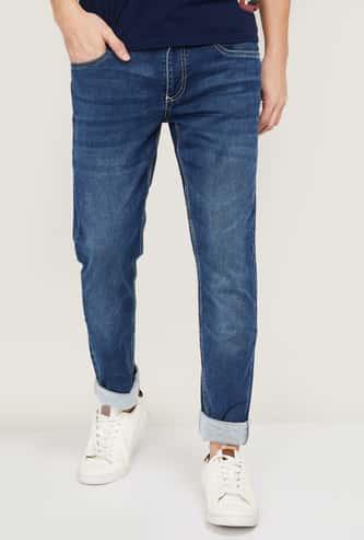 DENIMIZE Men Stonewashed Skinny Fit Jeans