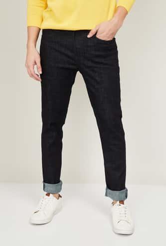 DENIMIZE Men Solid Slim Tapered Fit Jeans