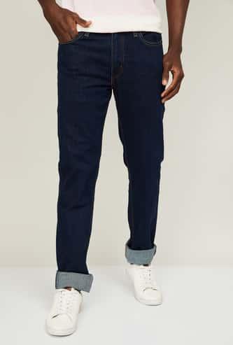 LEVI'S Men Stonewashed Slim Fit Jeans