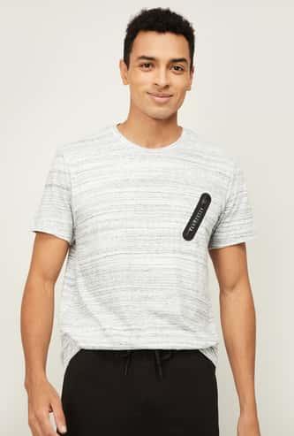 VAN HEUSEN Men Textured Regular Fit Lounge T-shirt