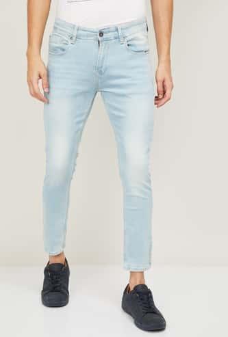 SPYKAR Men Icewashed Slim Tapered Jeans