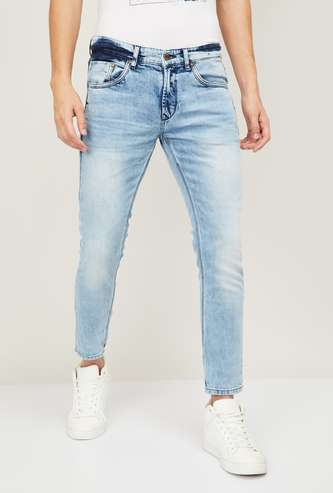 SPYKAR Men Stonewashed Slim Tapered Fit Jeans