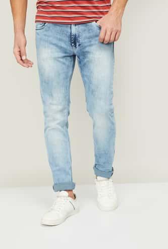 SPYKAR Men Light Washed Slim Tapered Jeans