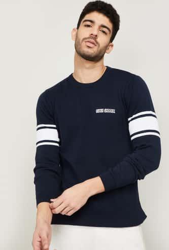 KAPPA Men Printed Crew Neck Sweatshirt