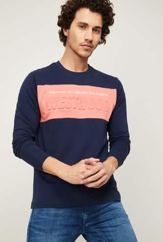 UCLA Men Typographic Print Crew Neck Sweatshirt