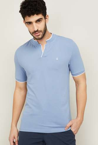 UNITED COLORS OF BENETTON Men Stand Collar T-shirt
