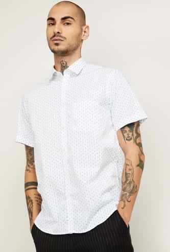 COLORPLUS Men Printed Slim Fit Casual Shirt