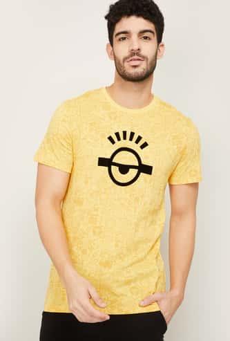 FREE AUTHORITY Men Printed Regular Fit Crew Neck T-shirt