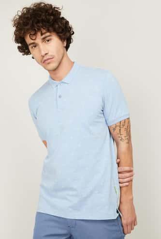 LP SPORT Men Solid Regular Fit Polo T-shirt