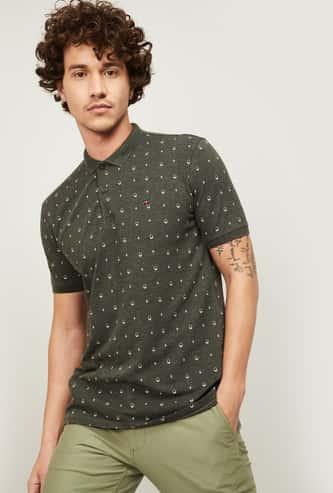 LP SPORT Men Printed Regular Fit Polo T-shirt