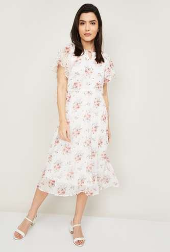 AND Women Floral Print A-Line Dress