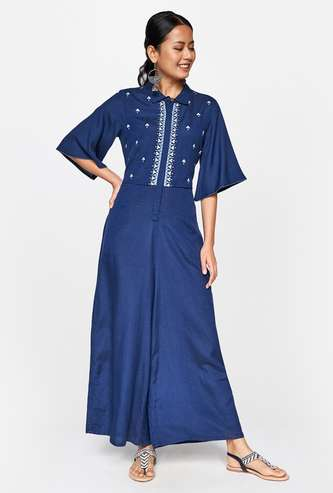 GLOBAL DESI Women Embroidered Jumpsuit