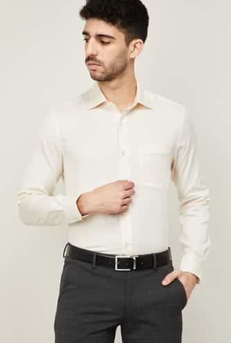 LOUIS PHILIPPE Men Solid Regular Formal Shirt