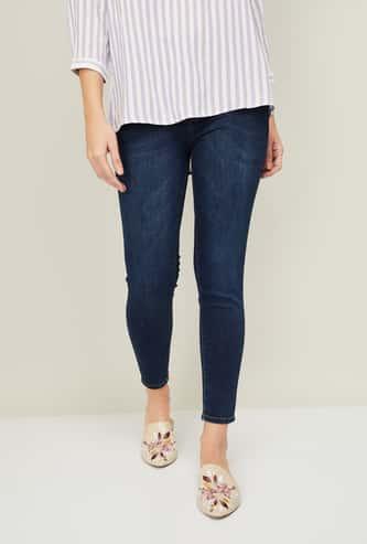 KRAUS Women Stonewashed Skinny Fit Jeans