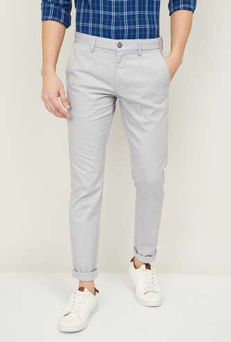 U.S. POLO ASSN. Men Solid Regular Fit Casual Trousers