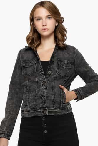 ONLY Women Stonewashed Denim Jacket