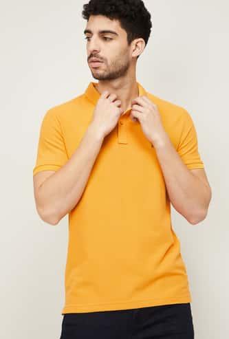 U.S. POLO ASSN. Men Solid Polo Neck T-shirt