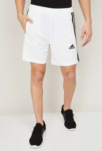 ADIDAS Men Striped Elasticated Shorts