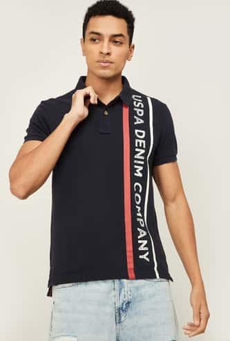 U.S. POLO ASSN. Men Printed Polo T-shirt