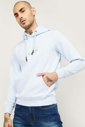 NUMERO UNO Men Printed Hooded Sweatshirt