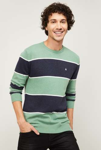 UNITED COLORS OF BENETTON Men Striped Sweater