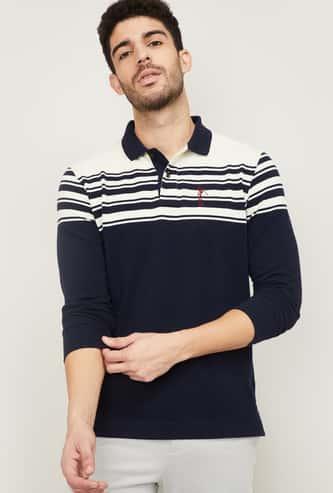 FAHRENHEIT Men Striped Polo T-shirt