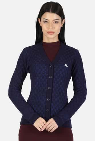 MONTE CARLO Women Textured Cardigan