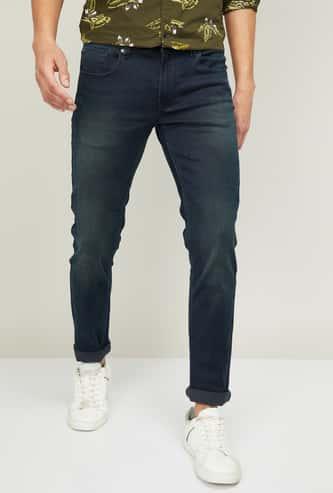 SPYKAR Men Washed Slim Tapered Jeans