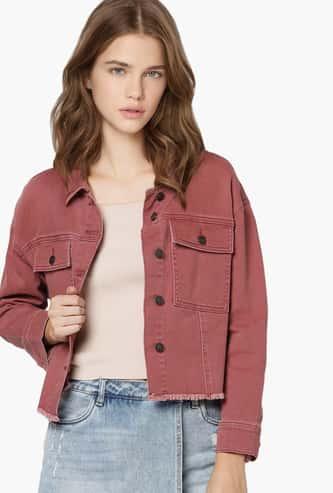 ONLY Women Solid Full Sleeves Denim Jacket