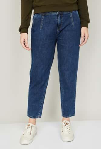 KRAUS Women Medium Washed Boyfriend Jeans