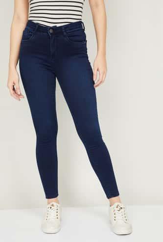 KRAUS Women Medium Washed Skinny Fit Jeans