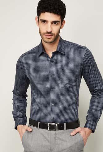 ARROW NEW YORK Men Printed Full Sleeves Regular Fit Formal Shirt