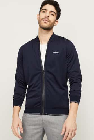 LOUIS PHILIPPE Men Solid Full Sleeves Jacket