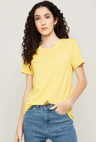ONLY Women Printed Round Neck T-shirt
