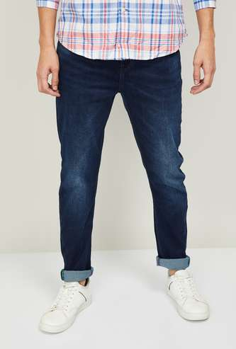 UNITED COLORS OF BENETTON Men Stonewashed Regular Straight Fit Jeans