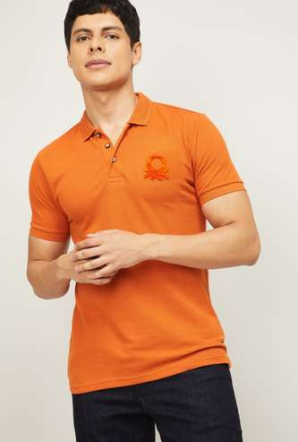 UNITED COLORS OF BENETTON Men Solid Polo T-shirt