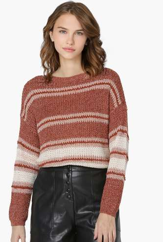 ONLY Women Striped Pullover Sweater