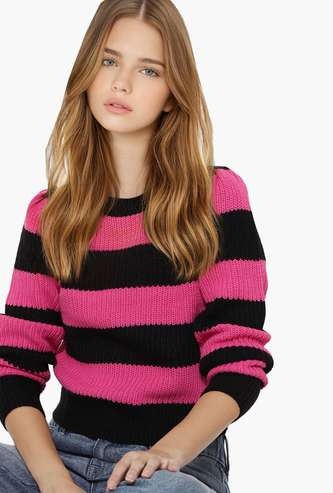 ONLY Women Striped Sweater