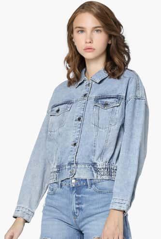 ONLY Women Solid Denim Jacket