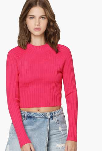 ONLY Women Textured Ribbed Sweater
