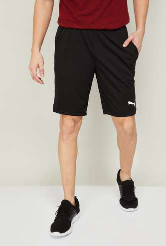 PUMA Men Solid Elastic Waist Gym Shorts