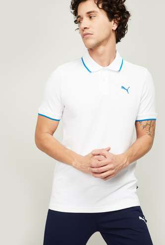 PUMA Men Solid Polo T-shirt