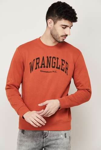 WRANGLER Men Printed Crew Neck Sweatshirt