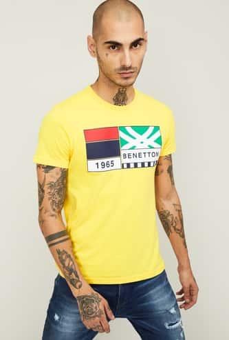UNITED COLORS OF BENETTON Men Printed Crew Neck T-shirt