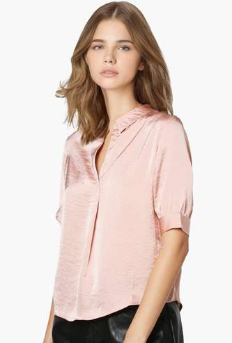 ONLY Women Solid Short Sleeves Top