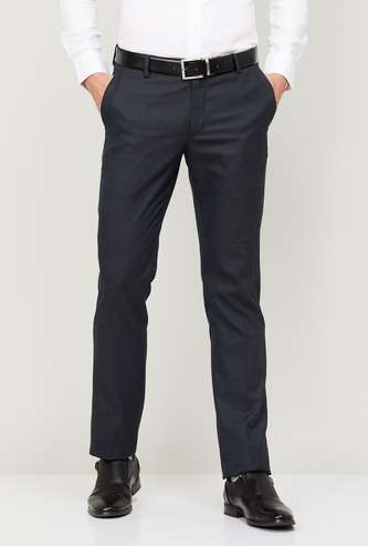 ARROW Men Solid Slim Tapered Fit Formal Trousers
