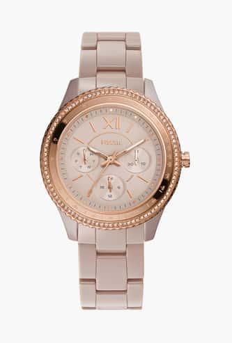 FOSSIL Stella Women Embellished Multifunctional Watch - CE1112