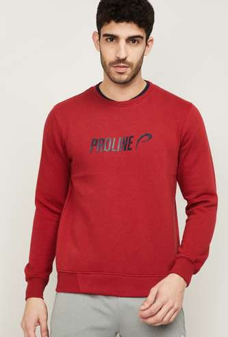 PROLINE Men Printed Crew Neck Sweatshirt